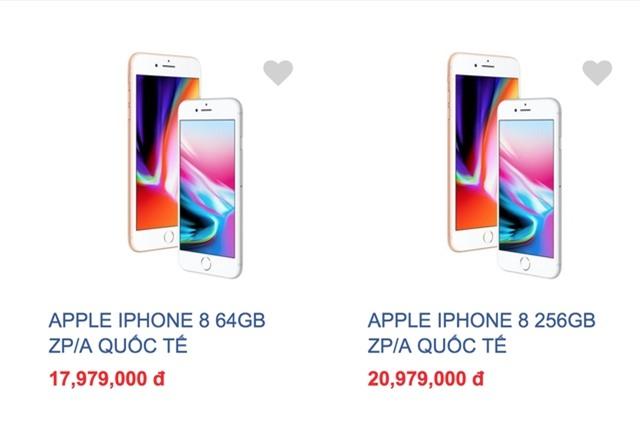 iPhone 8 giá đang giảm cực mạnh tại Việt Nam