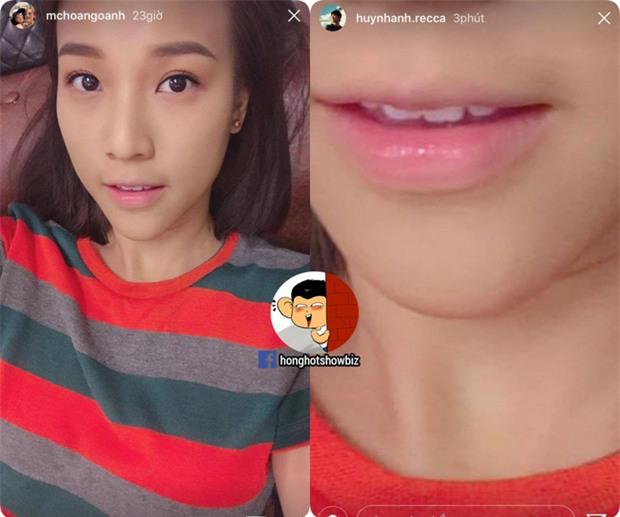 Chia tay gần nửa năm, Huỳnh Anh vẫn đăng ảnh môi Hoàng Oanh lên Instagram - Ảnh 1.