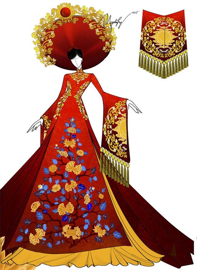 Ngắm trang phục truyền thống nặng hơn 30kg mà Huyền My sẽ mặc tại Miss Grand International 2017 - Ảnh 3.