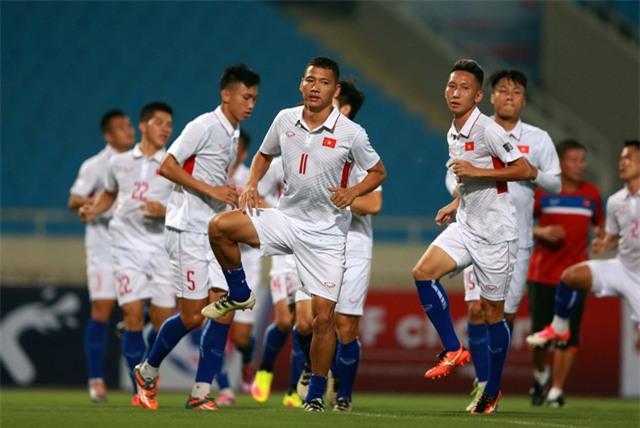 Các tuyển thủ Việt Nam đã sẵn sàng cho màn chào hàng với HLV Park Hang Seo