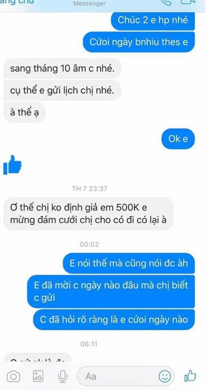 nong tren mang: khach khong di dam cuoi, co dau nhan tin doi chuyen tien mung hinh anh 2