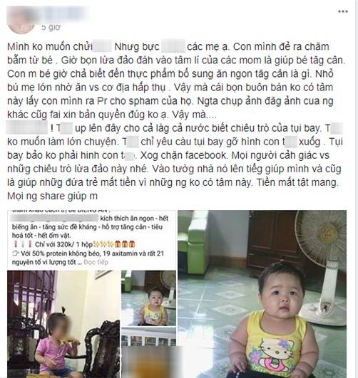 Chưa kịp tự hào vì nuôi con mát tay, mẹ phẫn nộ thấy ảnh con bị ăn cắp để quảng cáo thuốc tăng cân - Ảnh 1.
