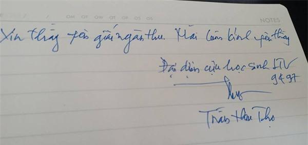 hoc sinh luong the vinh xep hang dai don linh cuu thay van nhu cuong ve truong - 9