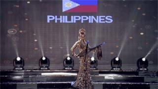 Clip: Huyền My mặc quốc phục hoành tráng, tỏa sáng trên sân khấu Miss Grand International 2017 - Ảnh 10.