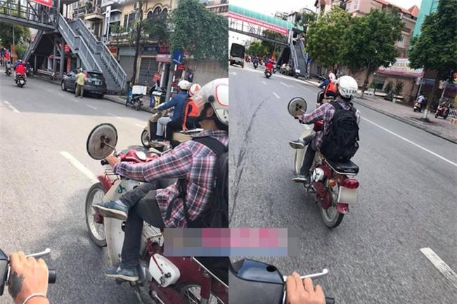Chàng trai và chiếc xe máy gây ồn ào trên đường phố Hà Nội  - Ảnh 1.