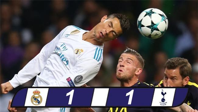 Ronaldo ghi bàn từ chấm 11m, Real vẫn không khuất phục được Tottenham