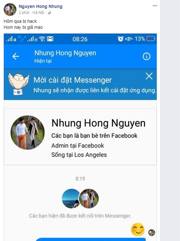 vo xuan bac tung bang chung facebook bi gia mao hinh anh 1