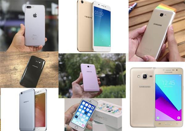 Top những sản phẩm bán ra trong các quý đều thuộc về Samsung và Oppo