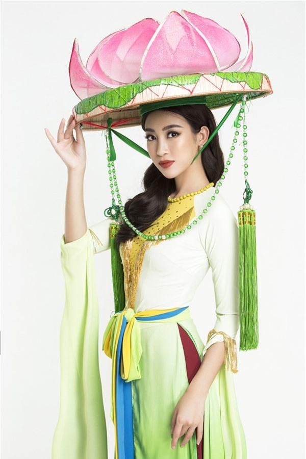 Vì đâu mà Đỗ Mỹ Linh khi diện áo tứ thân, đầu đội nón quai thao lại trông già hẳn vài tuổi thế này - Ảnh 3.