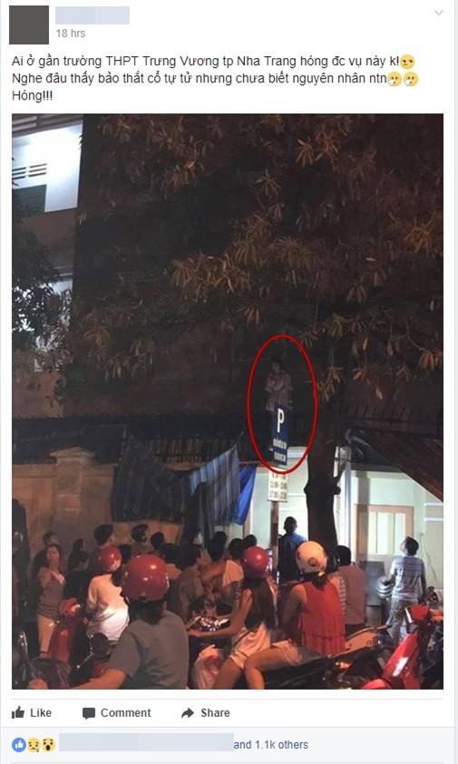 Thực hư sự việc cô gái mặc váy treo cổ tự tử tại trường học ở Nha Trang giữa đêm - Ảnh 1.