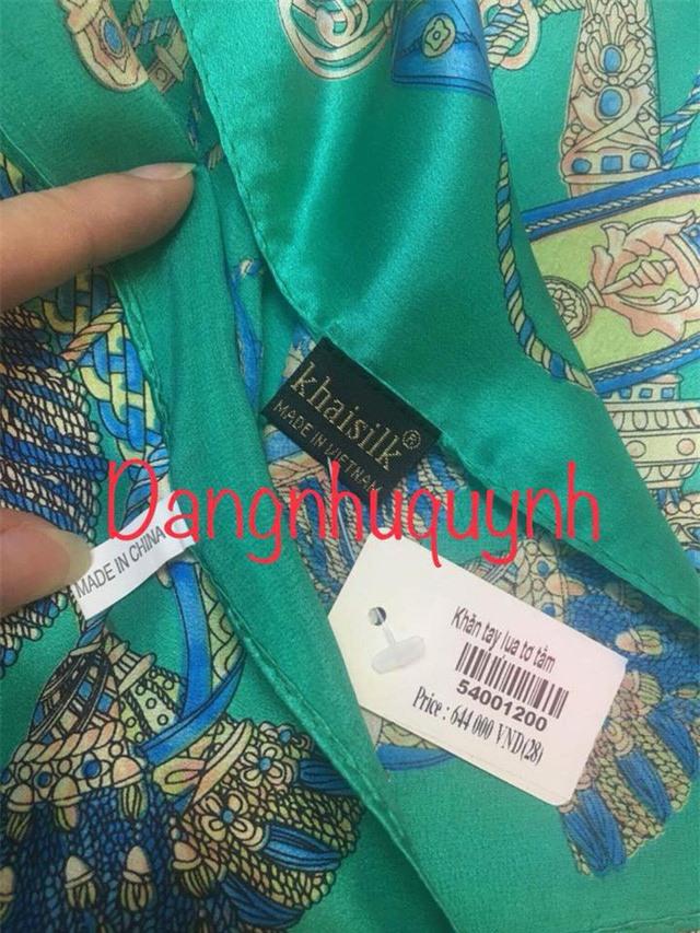 Ông chủ Khaisilk thừa nhận bán khăn made in China và cúi đầu xin lỗi