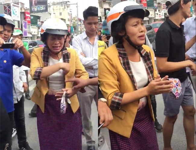 Clip: Nam thanh niên lao thẳng xe máy, chặn bắt đối tượng nghi dàn cảnh giật balo của một phụ nữ trên phố Hà Nội - Ảnh 2.
