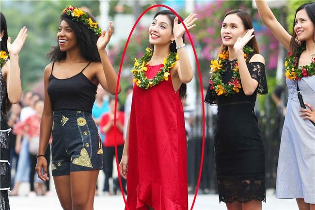 Không hiểu sao đi thi Hoa hậu Hoàn vũ VN mà lại mặc váy ngủ nhăn nhúm thế này? - Ảnh 2.