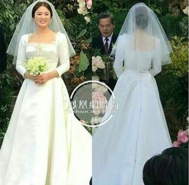 Hóa ra váy cưới của Song Hye Kyo đã được tiết lộ từ trước mà chúng ta chẳng hề hay biết - Ảnh 4.