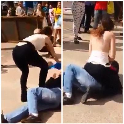 Sự thật đằng sau đoạn video người phụ nữ cởi áo, dùng ngực tấn công gã yêu râu xanh ở Brazil - Ảnh 2.