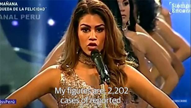 Thay vì công bố số đo 3 vòng, các thí sinh Hoa hậu này lại nói lên những con số gây sốc cho người xem - Ảnh 1.