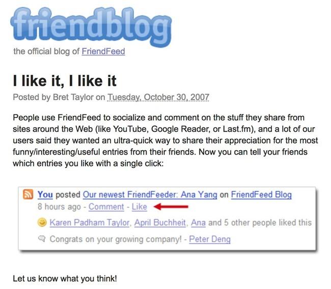 Không phải Facebook, công ty này mới là cha đẻ của nút Like nổi tiếng toàn mạng xã hội ngày nay - Ảnh 2.