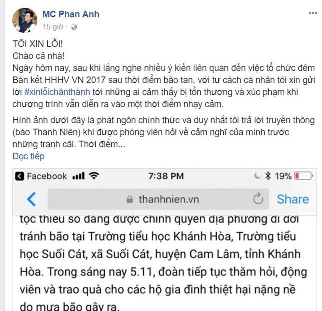 BTC Hoa hậu Hoàn vũ Việt Nam hay MC Phan Anh nói dối? - Ảnh 1.