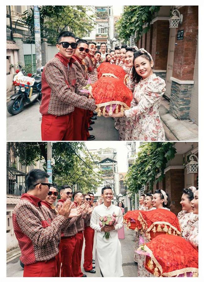 Cả thế giới ra mà xem: Đám cưới sau 9 năm yêu với màn rước dâu tăng động cực chất của cặp đôi Sài Gòn - Ảnh 4.