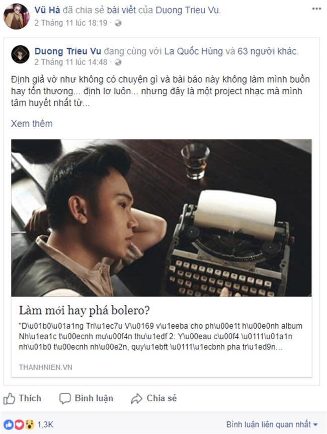 Nghệ sĩ Việt lên tiếng bênh vực Dương Triệu Vũ trước ý kiến trái chiều về việc làm mới bolero-6