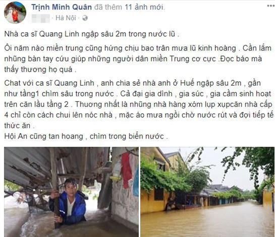 sao việt ủng hộ lũ lụt, thủy tiên, đàm vĩnh hưng, sao làm từ thiện