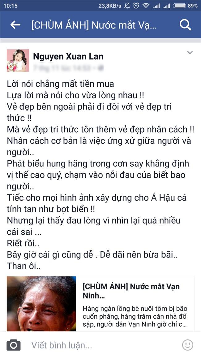 Xuân Lan nhận định Á hậu Hoàng My phát biểu hung hăng trong cơn say-4