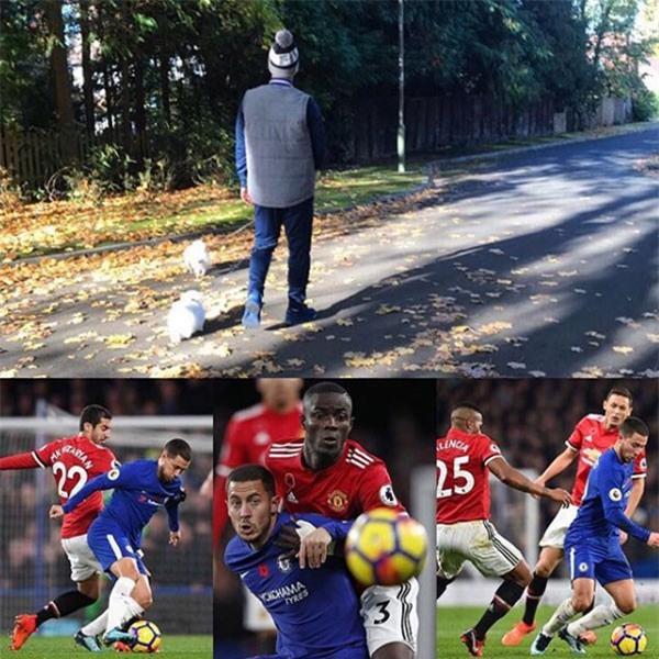 Sao Chelsea dắt chó đi dạo để trêu tức cầu thủ Man Utd - Ảnh 1.