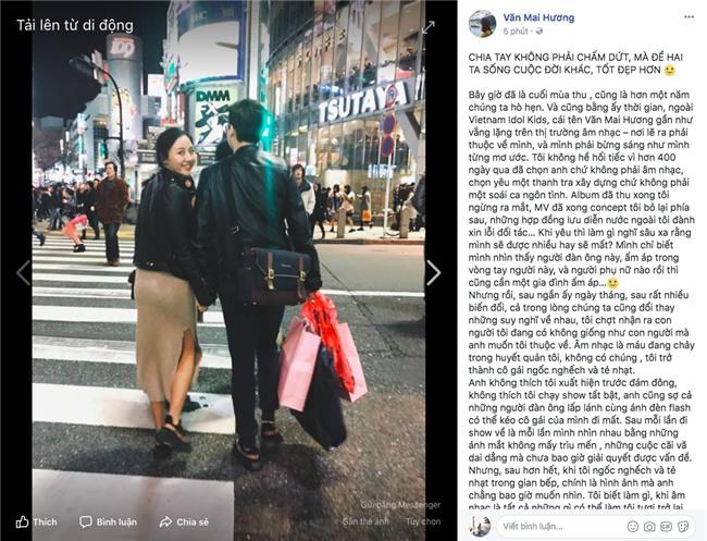 Văn Mai Hương đã chia tay bạn trai sau hơn một năm yêu nhau lặng lẽ - Ảnh 1.