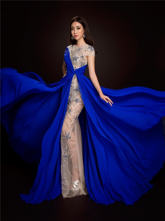 Mỹ Linh quyến rũ tựa nữ thần trong loạt trang phục dạ hội mang đến Miss World 2017 - Ảnh 5.