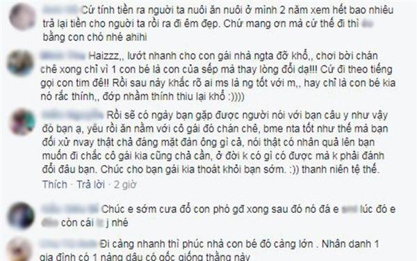 "dan mang tich cuc ""ung ho"" thanh nien nho tu van chia tay ban gai bao nuoi minh 2 nam - 2"