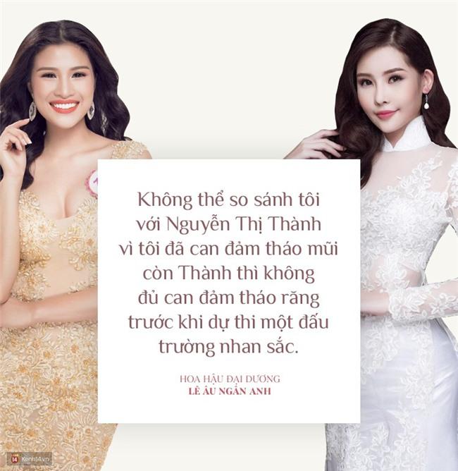 Hoa hậu Ngân Anh: Tôi can đảm tháo sụn mũi còn Nguyễn Thị Thành không tháo răng nên không thể so sánh được - Ảnh 2.
