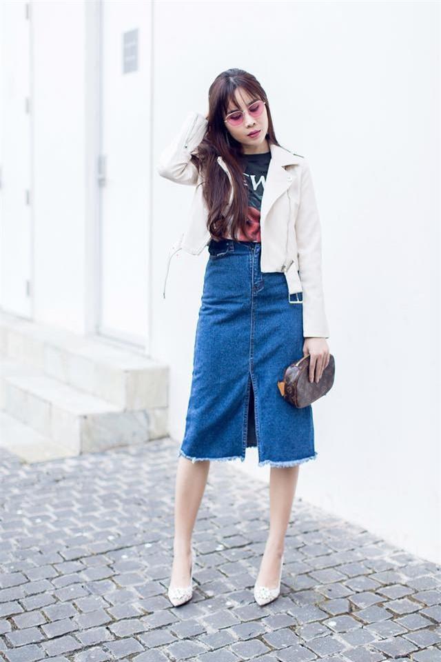 Street style tuần này: Angela Phương Trinh diện váy ôm già chát, Kỳ Duyên nổi bật vì dát hàng hiệu từ đầu tới chân - Ảnh 7.