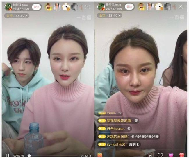 Lỡ tay tắt nhầm hiệu ứng làm đẹp khi livestream, hot girl Trung Quốc lộ nhan sắc thật - Ảnh 8.