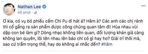 Ca sĩ phản đối chuyện đề nghị bỏ phiếu cấm Chi Pu đi hát: Không thích đứng chung sân khấu với họ thì đừng nhận lời diễn chung - Ảnh 3.