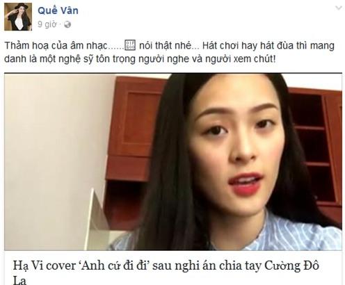 Bênh vực Chi Pu, Quế Vân lạy các ông bà thánh hằn học của showbiz Việt làm ơn im lặng cho sang-7