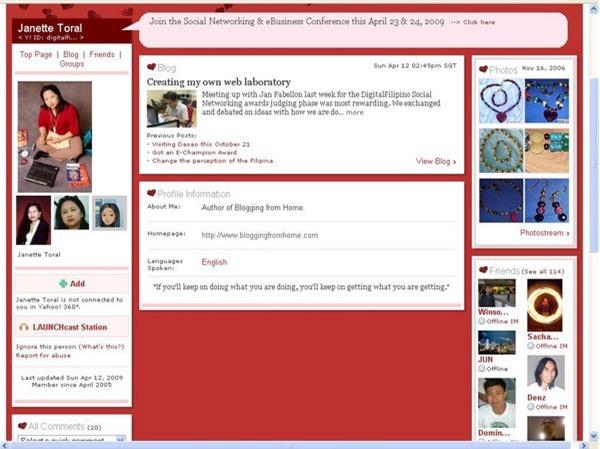 Nếu đã sử dụng Yahoo, chắc chắn bạn cũng sẽ biết đến Yahoo 360 blog. Đây được xem là mạng xã hội đầu tiên mà người Việt Nam sử dụng, vào thời điểm Facebook vẫn chưa được biết đến tại Việt Nam. Yahoo 360 blog được xem như một trang nhật ký cá nhân, nơi người dùng có thể tự viết các bài viết dưới dạng blog, nhưng những người khác cũng có thể tham gia bình luận.
