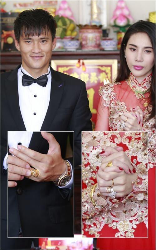 Công Vinh và Thủy Tiên được gia đình trao rất nhiều trang sức bằng vàng trong lễ cưới. - Tin sao Viet - Tin tuc sao Viet - Scandal sao Viet - Tin tuc cua Sao - Tin cua Sao