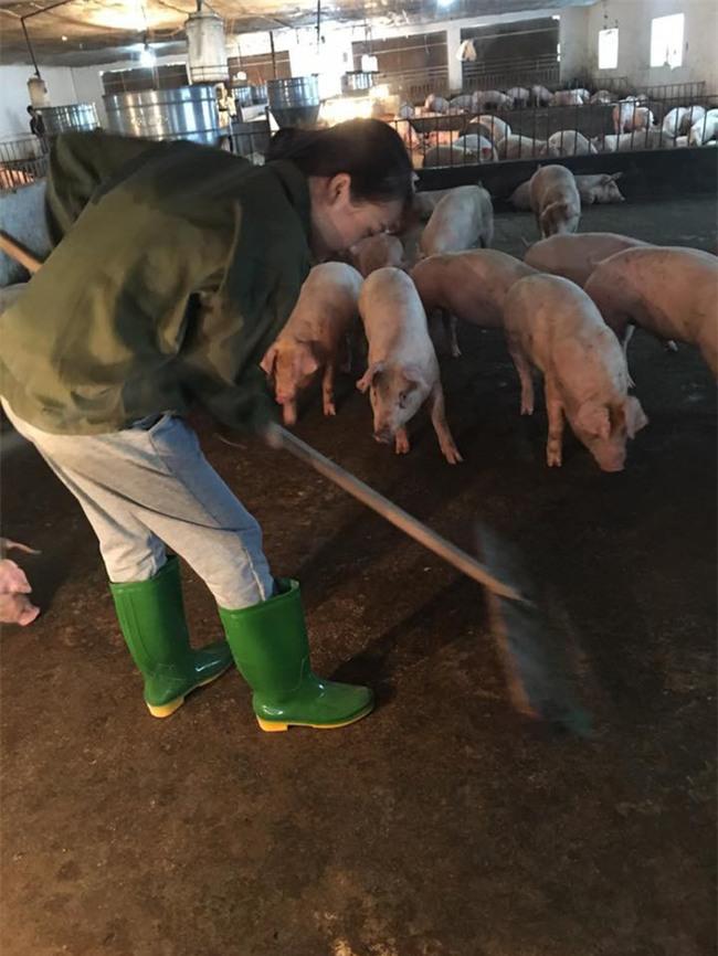 Cô nàng chăn lợn xinh đẹp gây tò mò nhất Facebook hôm nay! - Ảnh 4.