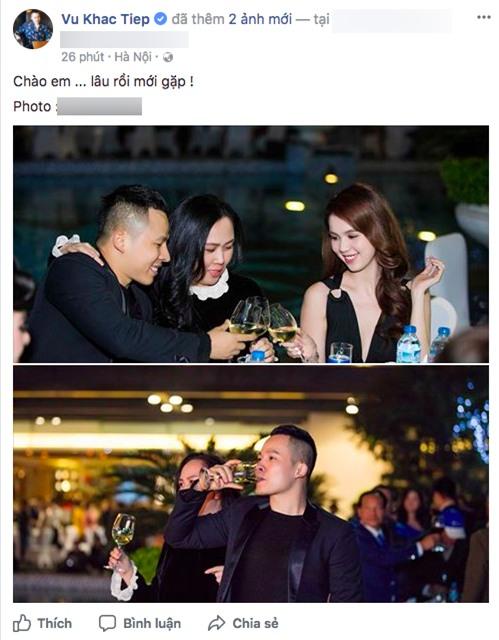 Sau khi hủy kết bạn trên mạng xã hội vì mâu thuẫn, Khắc Tiệp vui vẻ đăng ảnh chụp cùng Ngọc Trinh - Ảnh 3.