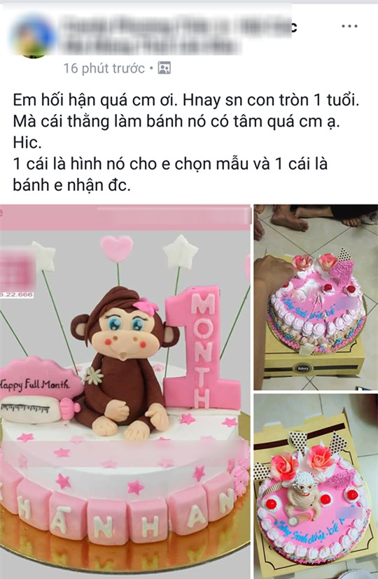 Bỏ 350 nghìn mua bánh sinh nhật hình khỉ, mẹ trẻ giận tím người nhận về chiếc bánh hình trâu khỏa thân - Ảnh 1.