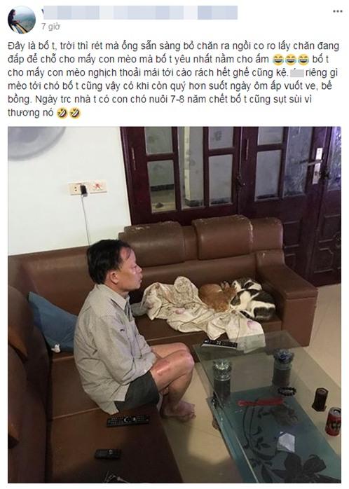 Người đàn ông co ro trong cái lạnh bị con trai chụp ảnh, đăng lên mạng nói xấu - Ảnh 1.