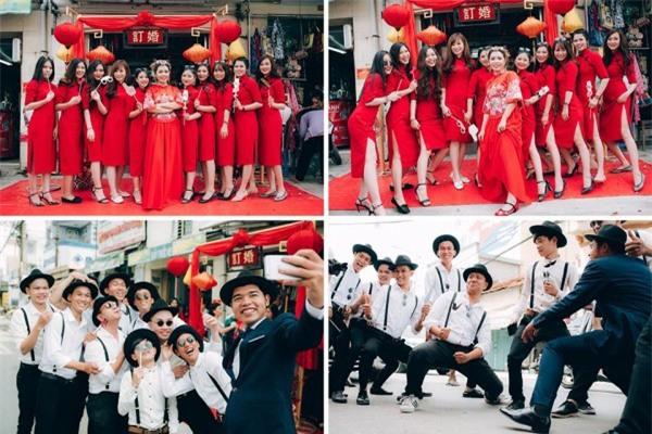 Dàn bê tráp theo phong cách 'bến Thượng Hải' của cô dâu người Việt gốc Hoa gây sốt mạng xã hội - Ảnh 7.