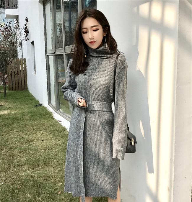 Váy len đúng là món đồ dễ mặc nhất, và bạn nhất định phải sắm 1 chiếc cho đông này - Ảnh 1.