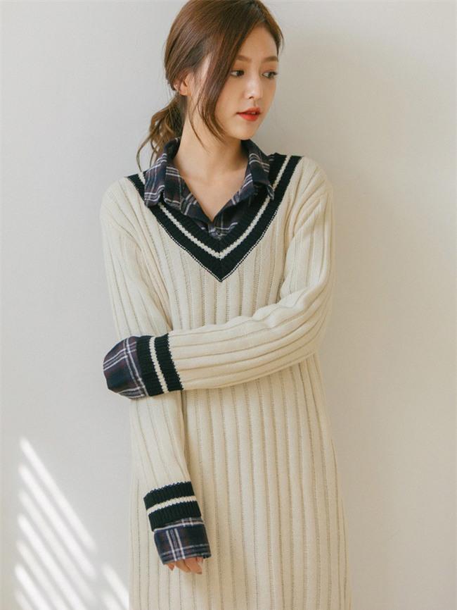 Váy len đúng là món đồ dễ mặc nhất, và bạn nhất định phải sắm 1 chiếc cho đông này - Ảnh 11.
