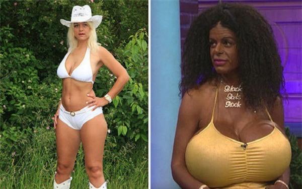 Chán màu da trắng, người phụ nữ có bộ ngực khủng nhất châu Âu chi cả đống tiền để sở hữu làn da đen đằm thắm - Ảnh 5.