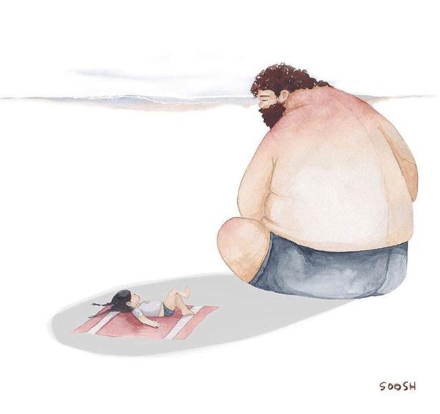 Người cha luôn bảo vệ con gái mình. Luôn là cái bóng của cô bé.