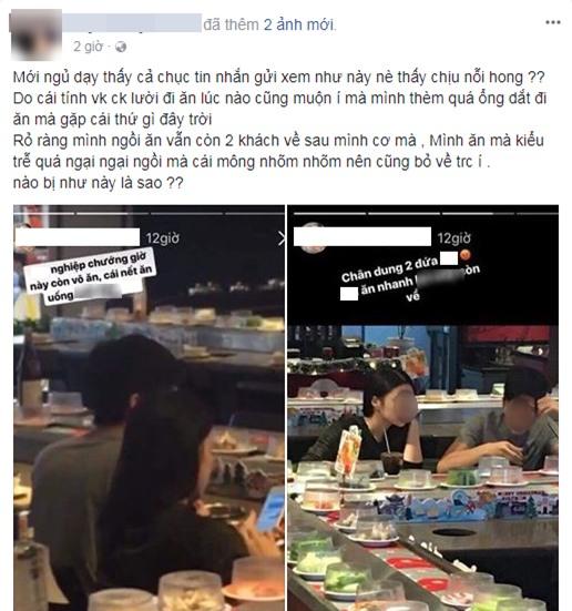 Vào nhà hàng ăn lẩu lúc sắp đóng cửa, cặp đôi bị nhân viên phục vụ lén chụp hình, miệt thị nặng nề trên mạng - Ảnh 1.