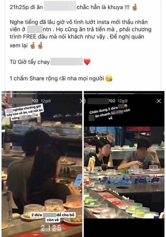 Vào nhà hàng ăn lẩu lúc sắp đóng cửa, cặp đôi bị nhân viên phục vụ lén chụp hình, miệt thị nặng nề trên mạng - Ảnh 3.