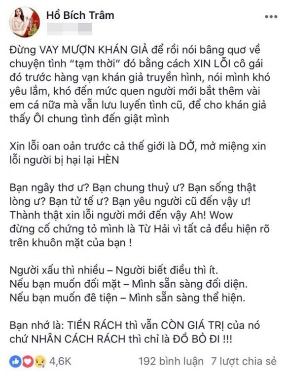 Người đẹp bị Minh Luân chia tay vì còn yêu người cũ lên tiếng tố nam ca sĩ: Nhân cách rách chỉ là đồ bỏ đi-2