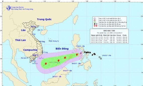 Trưa nay bão Kai-tak đi vào biển Đông, trở thành cơn bão số 15 trong năm nay ở Việt Nam - Ảnh 1.